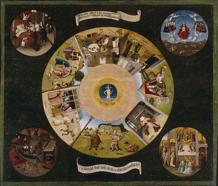 Bild: De sju dödssynderna - Hieronymus Bosch
