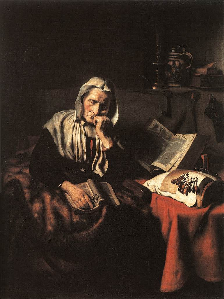 Bild: Old Woman Dozing - Nicolas Maes