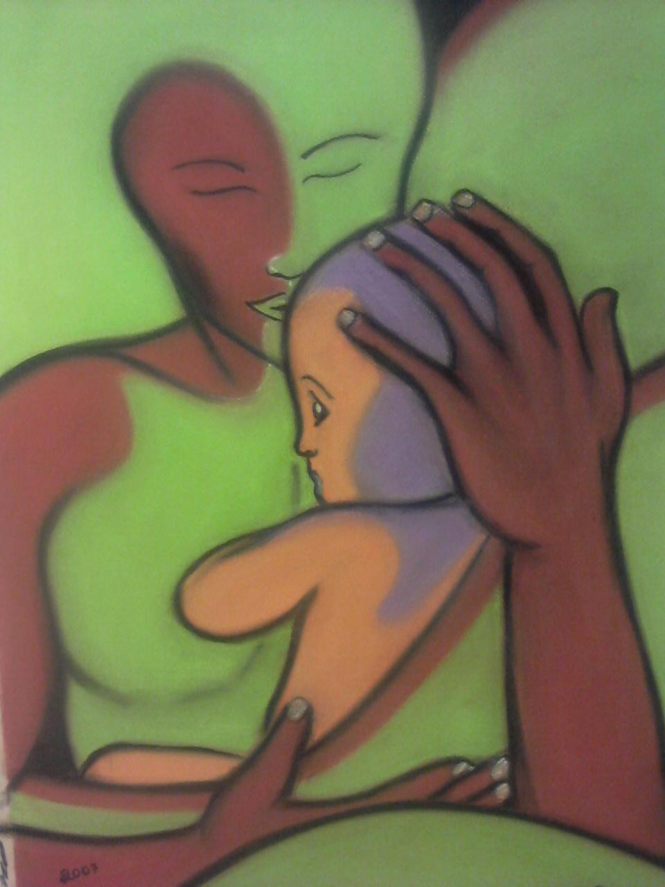 Bild: Papa et bébé -Bliu pastels/ Wikicommons