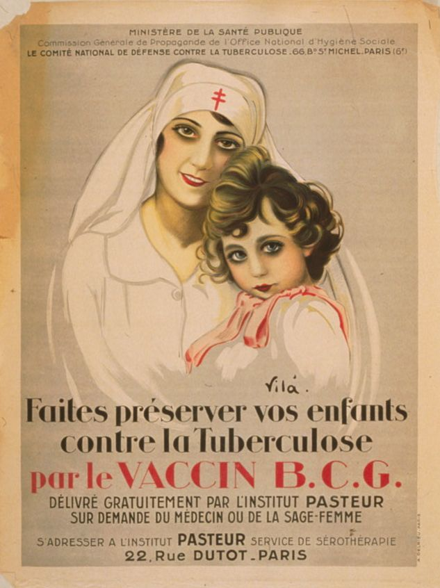 Informationsposter angående tuberkulosvaccin från första världskriget